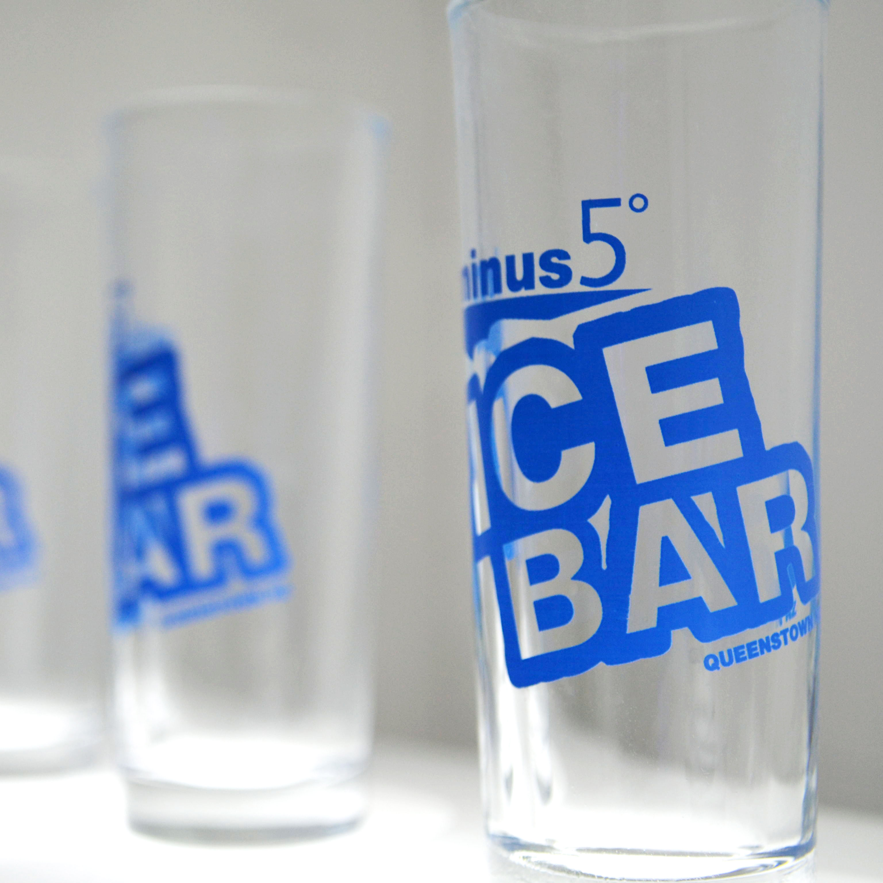 Minus 5° Ice Bar shot glasses